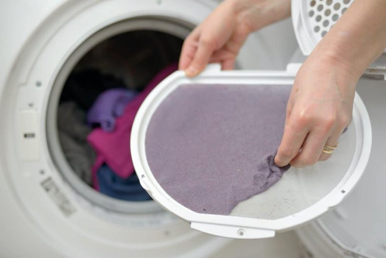 lint from dryer