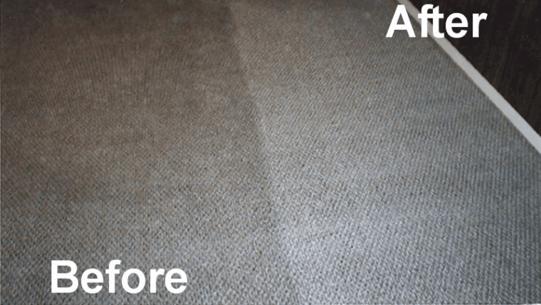 Before and after professional carpet cleaning services in Ashburn