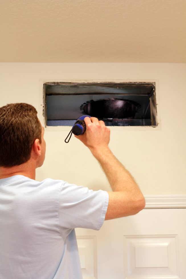 HVAC inspection for air duct mold cleaning in Bethesda