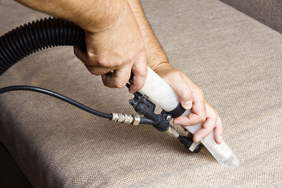 Upholstery cleaning a seat in Gaithersburg, MD
