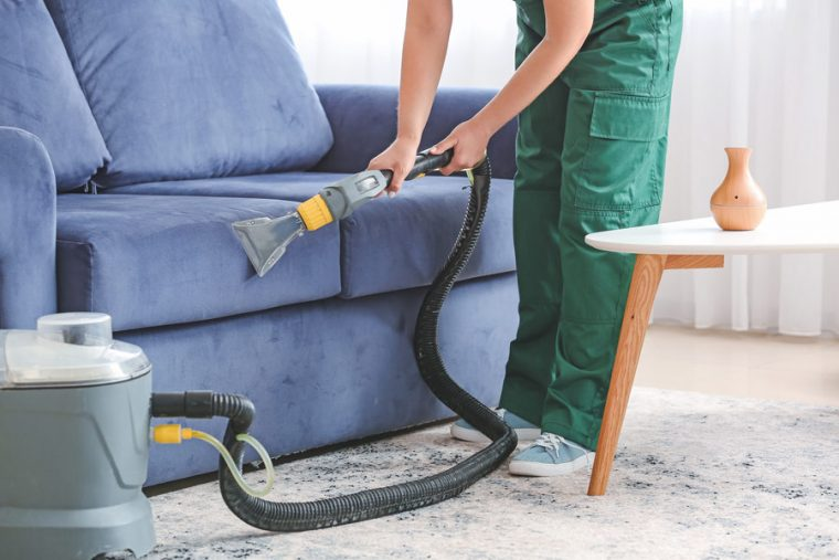 Upholstery Cleaning in Vienna for a Blue Couch